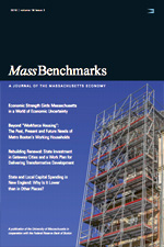 Cover of Benchmarks Journal showing a building in construction.